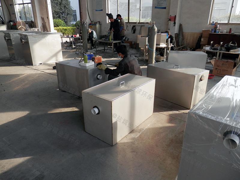 商丘饭馆餐厨油水分离处理器施工