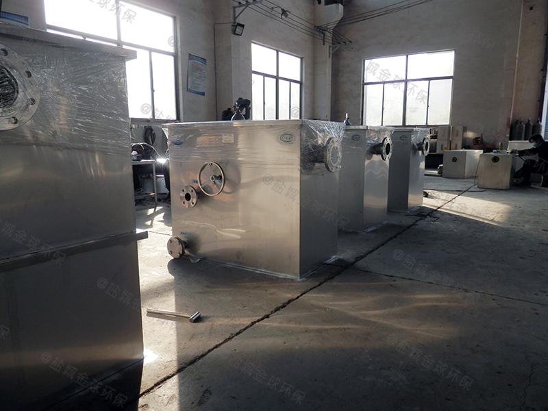 南阳火锅店隔油提升一体化设备图纸