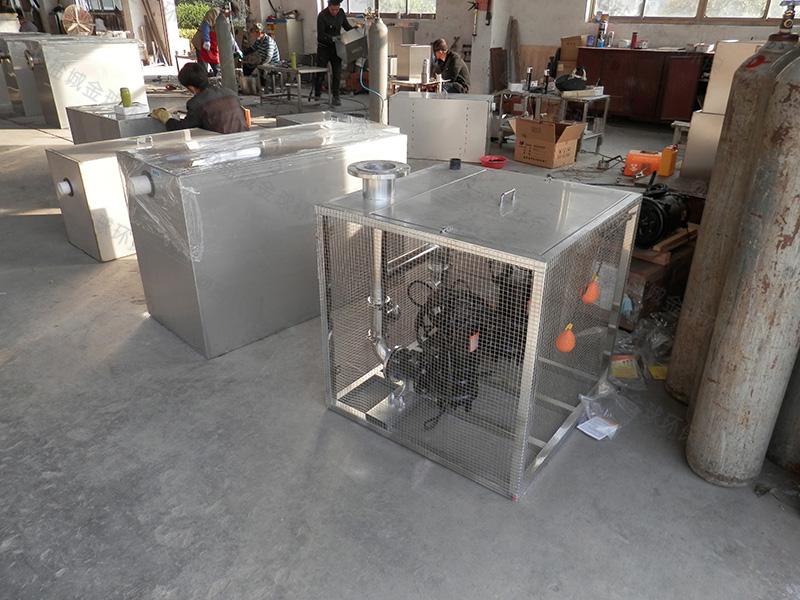 南阳酒店餐厨油水分离处理器施工图