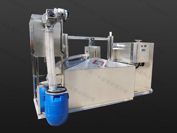 饮食业中小型埋地式分体式污水油水分离设备什么原理