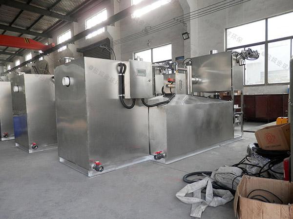 餐饮专用室内大自动刮油一体式隔油设备标准