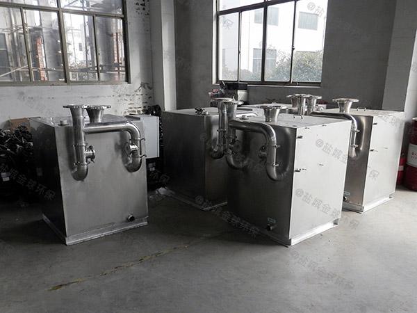 餐饮环保大室内简易隔油除渣设备工程