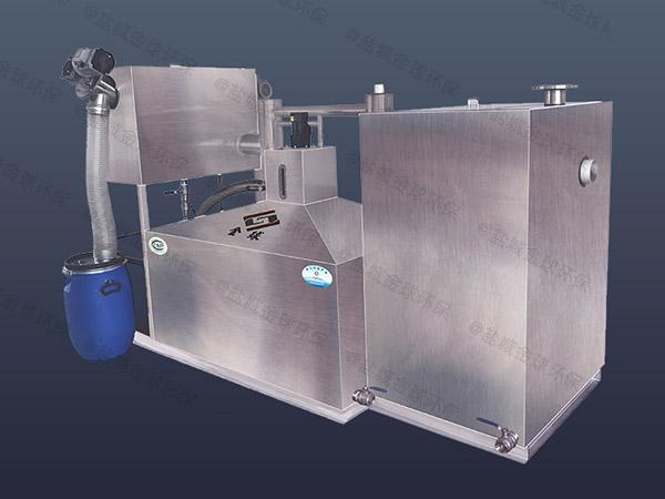 小饭店大型地下室移动隔油提升一体化设备保养