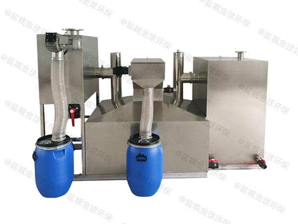 食堂用中小型地埋式简单排水隔油设备工作原理图