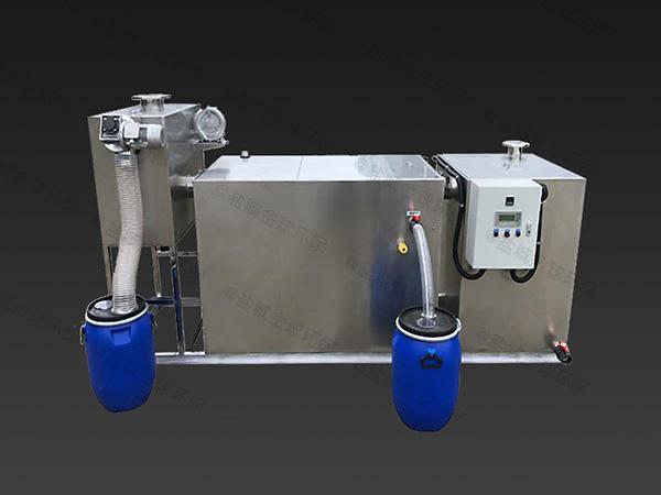火锅专用地面式无动力油水分离过滤机使用寿命