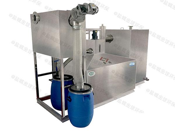 单位食堂地下室大型自动刮油隔油池提升设备的作用