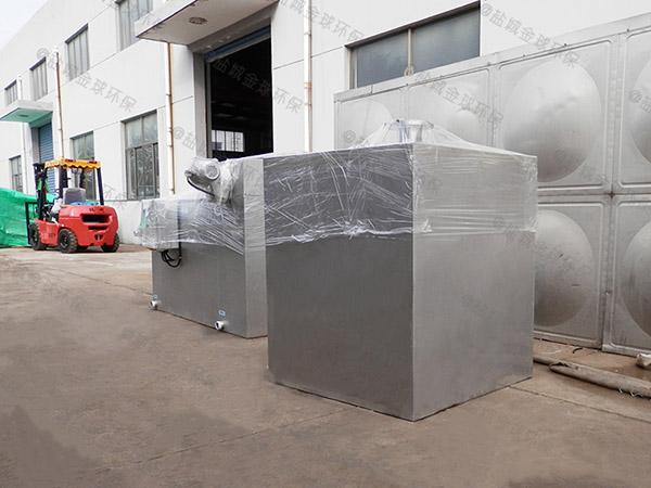 工地食堂地面式大型多功能油水分离装置行业