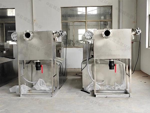 中餐大型地埋式简单密闭隔油器应用