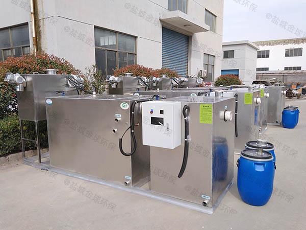 餐饮业30立方隔油隔油提污设备内部结构
