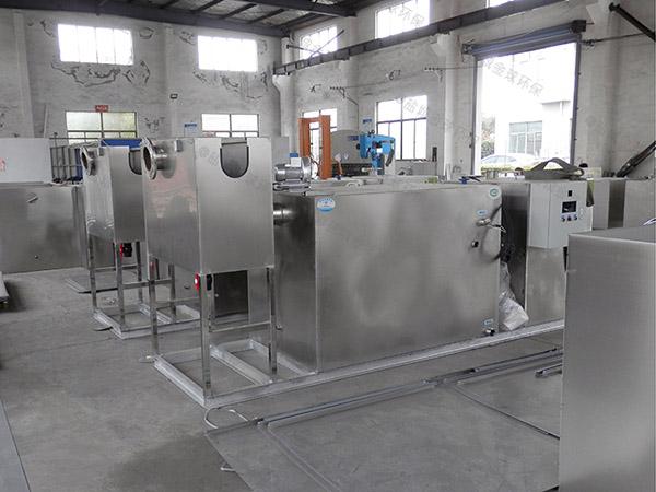 餐饮行业100人隔悬浮物隔油提升一体设备设计要求