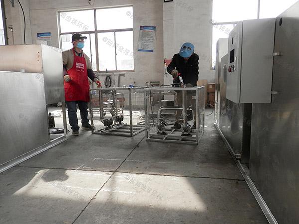 工地食堂中小型不锈钢隔油一体化设备内部结构图