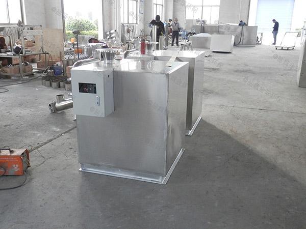 后厨500人隔油隔渣隔悬浮物隔油提升一体化使用方法