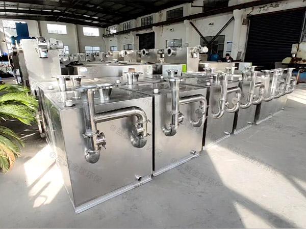 厨房用3.1米*1.2米*1.85米隔渣隔油器提升设备施工工艺