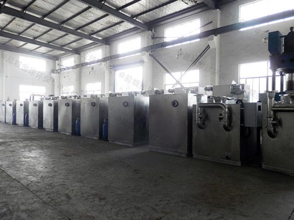 后厨小型隔悬浮物隔油池自动刮油生产厂商