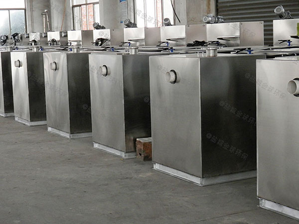单位食堂甲型全自动一体化油水分离设备油和水怎么处理