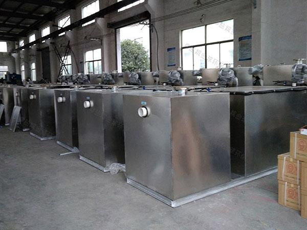 饭馆甲型智能型油水分离过滤机的作用及特点