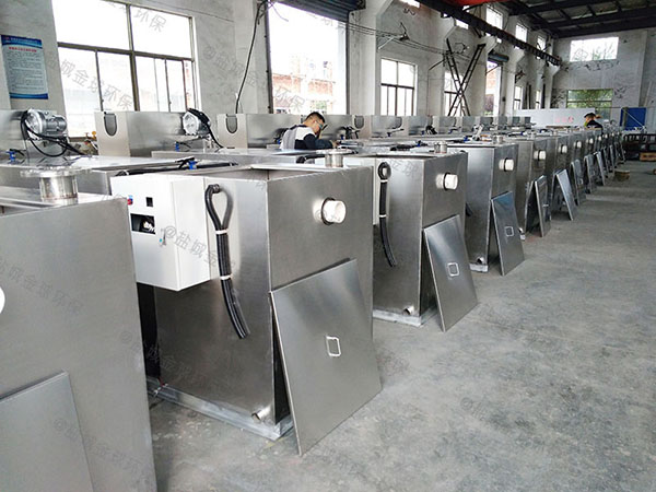 单位食堂3.5米*1.35米*1.85米全自动油水分离处理机油用什么泵抽