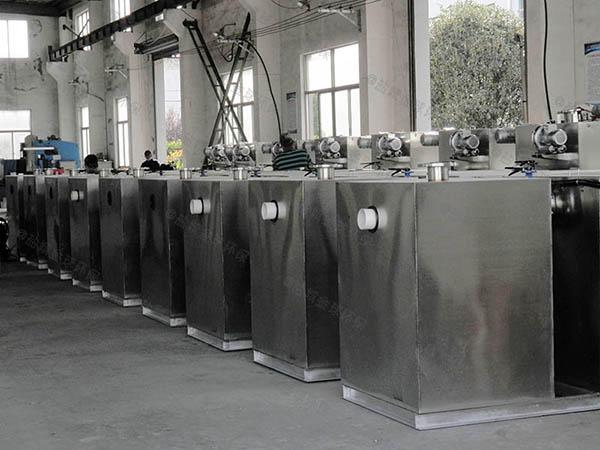 饭堂1000人自动油水分离过滤机组成