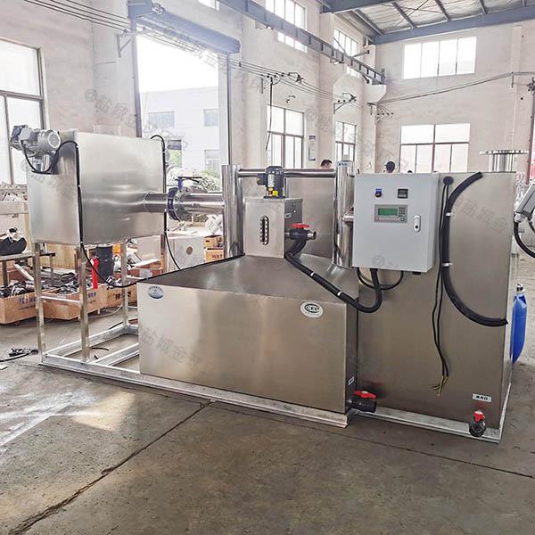 工地食堂3.5米*1.35米*1.85米自动一体化油脂分离器证书
