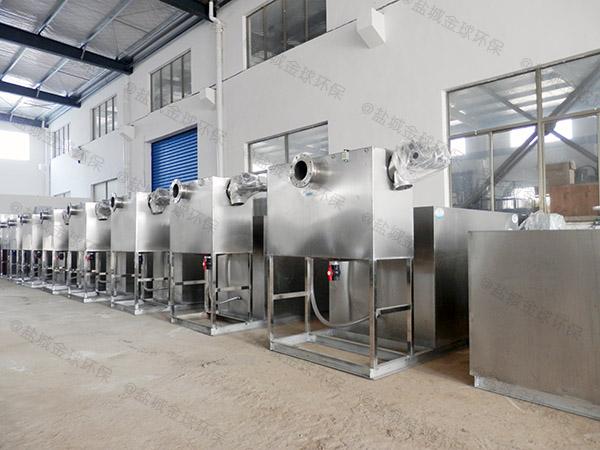 工地食堂小型自动除渣油水分离提升设备是成套的还是拼装的