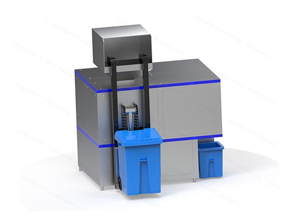 日处理5吨全自动餐饮垃圾处理设备一体机工艺说明