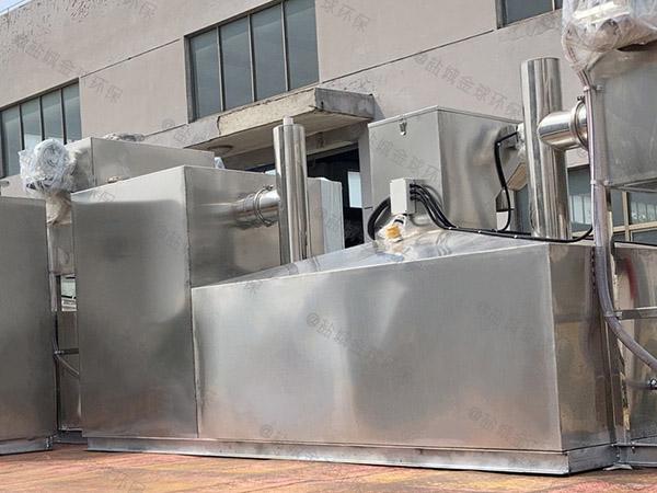 地埋组合式餐厅油污水分离器的做法