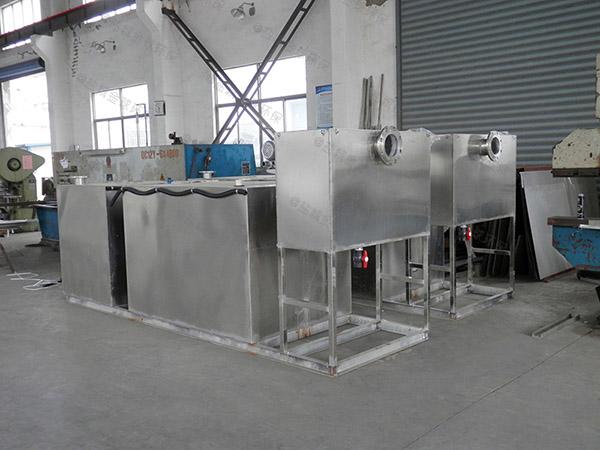 户外自动排水饭店油水分离机改造